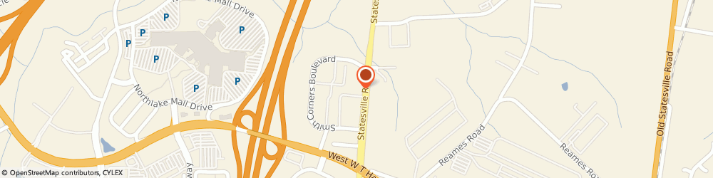 Route/map/directions to Enterprise Rent-A-Car, 28269 Charlotte, 7340 Smiths Corners Blvd