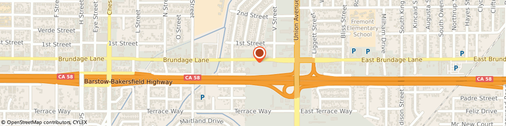 Route/map/directions to Brundage Liquor Store, 93304 Bakersfield, 401 Brundage Ln