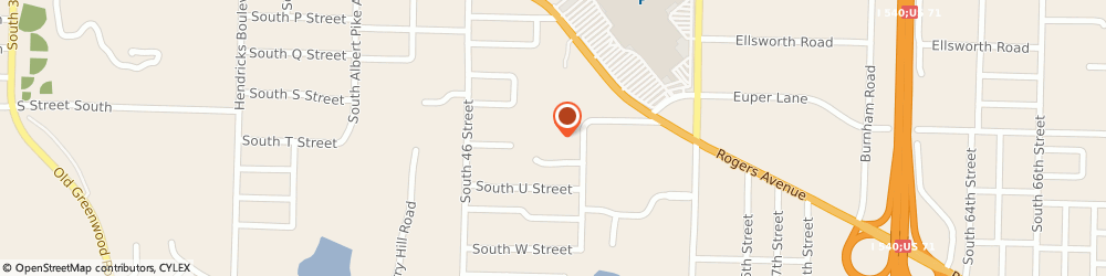 Route/map/directions to State Farm Insurance Cos, 72903 Fort Smith, 4900 Rogers Avenue
