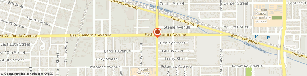 Route/map/directions to Tip Top Liquor Store, 93307 Bakersfield, 2135 EAST CALIFORNIA AVENUE