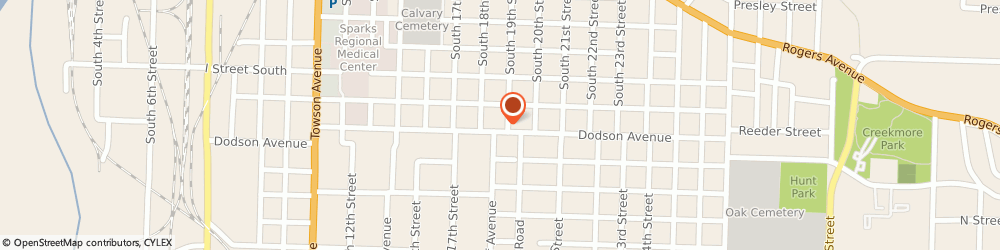 Route/map/directions to STD Testing Services FORT SMITH, 72901 Fort Smith, 1823 Dodson Ave