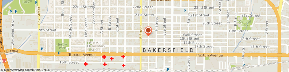 Route/map/directions to Greyhound Package Express, 93301 Bakersfield, 1820 18TH STREET