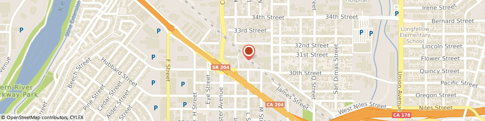 Route/map/directions to West Side Liquor Store, 93301 Bakersfield, 1832 19Th Street