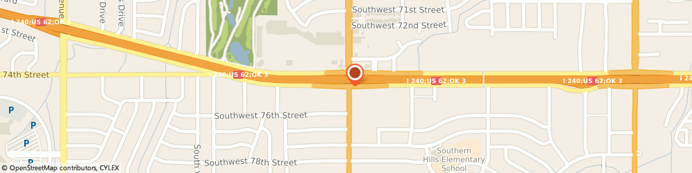 Route/map/directions to At The Beach Tanning Super Stores, 73159 Oklahoma City, 2108 SOUTHWEST 74TH STREET