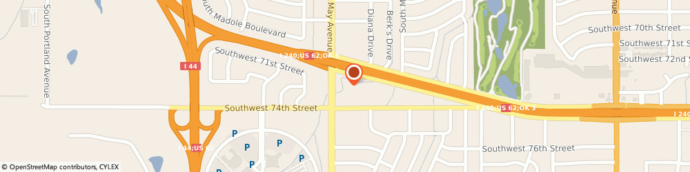 Route/map/directions to RAMADA INN(R), 73159 Oklahoma City, 7400 South May Ave