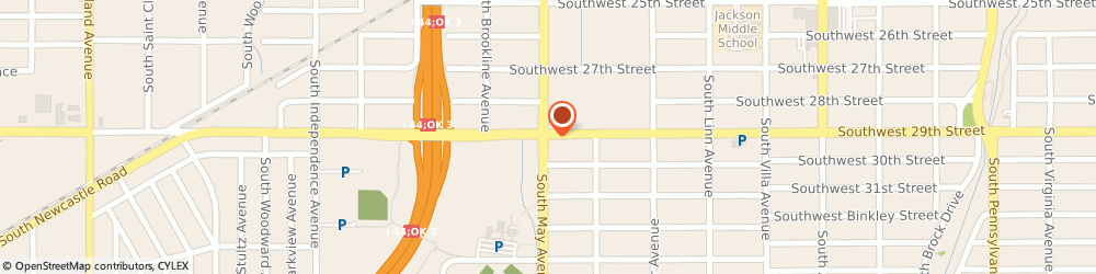 Route/map/directions to 7-Eleven, 73119 Oklahoma City, 3000 S MAY AVE