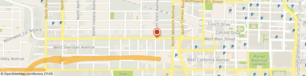 Route/map/directions to Bank Of America - Departments, Business Banking, 73106 Oklahoma City, 1239 WEST MAIN STREET