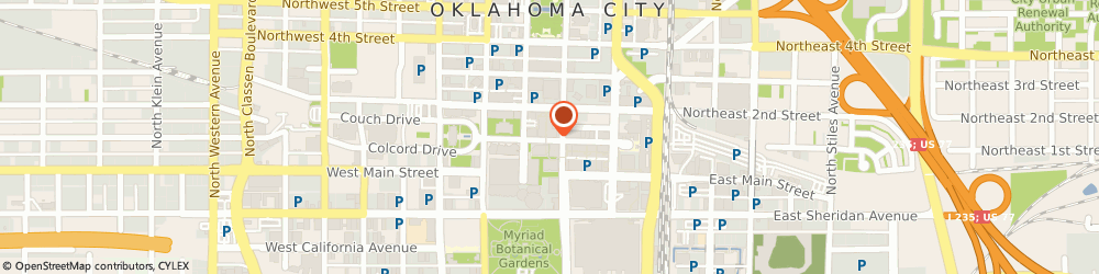 Route/map/directions to Bank of America, 73102 Oklahoma City, 211 N ROBINSON AVE # S100