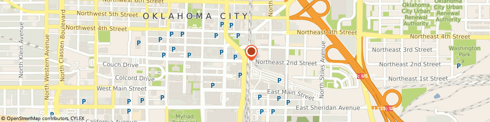Route/map/directions to Echo Energy, 73102 Oklahoma City, 120 Robert S. Kerr Avenue