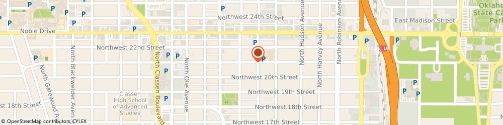 Route/map/directions to Casey Family Program, 73103 Oklahoma City, 620 NORTHWEST 21ST STREET