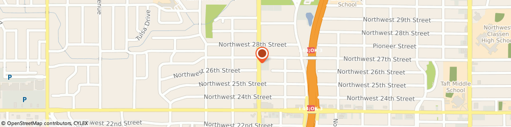 Route/map/directions to Alcoholics Anonymous, 73102 Oklahoma City, 2701 N PORTLAND AVE # E