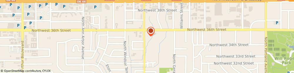 Route/map/directions to Shelter Insurance, 73112 Oklahoma City, 3616 N Meridian Ave