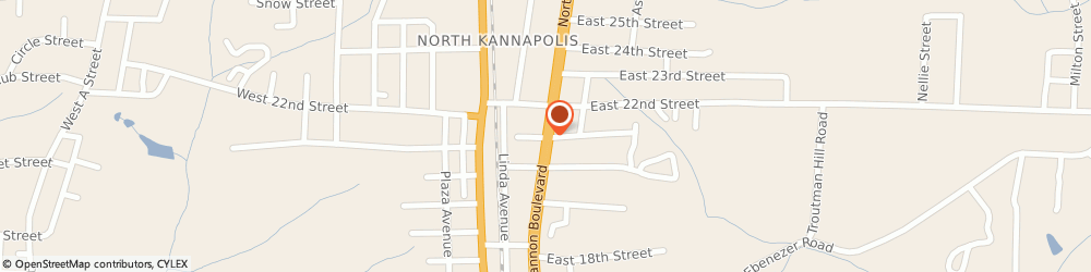 Route/map/directions to Little Caesars Pizza, 28083 Kannapolis, 2103 N Cannon Blvd