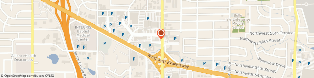 Route/map/directions to Bank of America, 73112 Oklahoma City, 5613 N MAY AVE