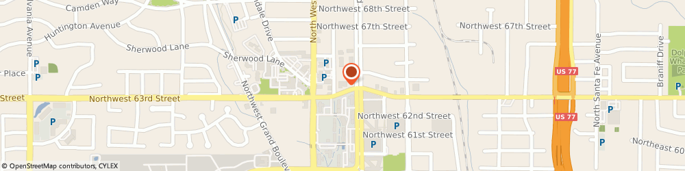 Route/map/directions to Bank of America, 73116 Oklahoma City, 1001 NORTHWEST 63RD STREET SUITE 210