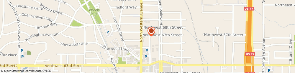 Route/map/directions to Cross Timbers Productions, Inc., 73116 Oklahoma City, 1016 NORTHWEST 67TH STREET