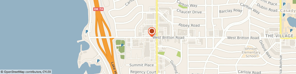 Route/map/directions to Bank of America, 73120 Oklahoma City, 2950 W BRITTON RD