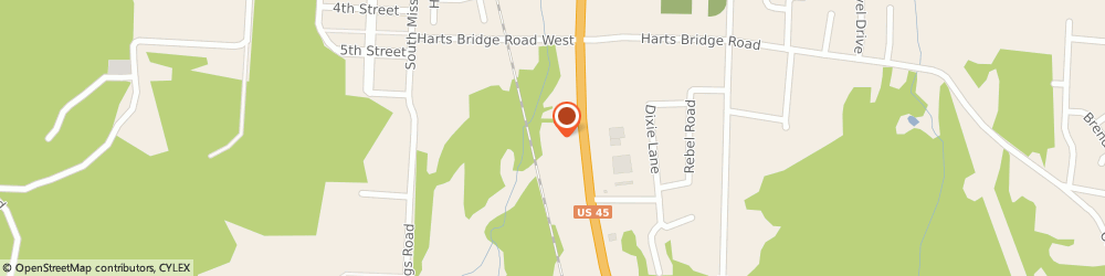 Route/map/directions to Snappy Tomato Pizza, 38301 Jackson, 1649 S Highland Ave