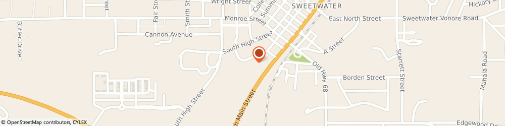 Route/map/directions to Beamer's Deli-Mart, 37874 Sweetwater, 309 S Oak St # B