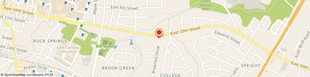 Route/map/directions to Papa John's Pizza, 27858-3709 Greenville, 1322 E 10th St