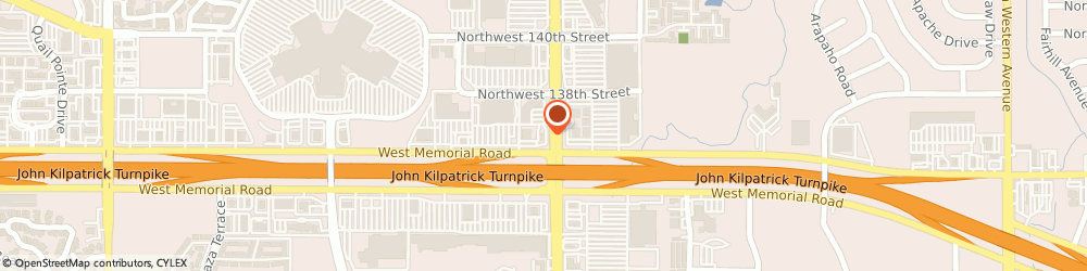 Route/map/directions to Bank of America, 73134 Oklahoma City, 2101 W MEMORIAL RD