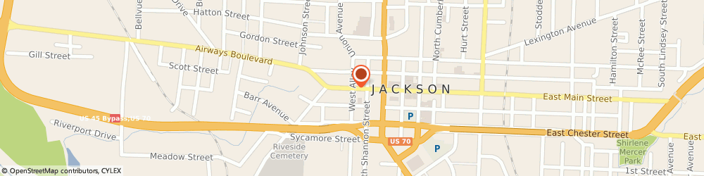 Route/map/directions to Baker Bros. BBQ, 38301 Jackson, 215 W. Main Street