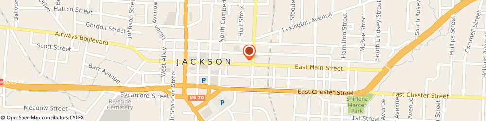 Route/map/directions to H & r Block Tax Svc, 38301 Jackson, 447 E MAIN ST