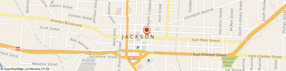 Route/map/directions to BancorpSouth Bank, 38301 Jackson, 301 E Main Street