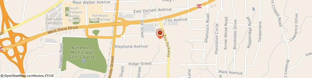 Route/map/directions to Curves For Women, 27205 Asheboro, 1512 ZOO PARKWAY