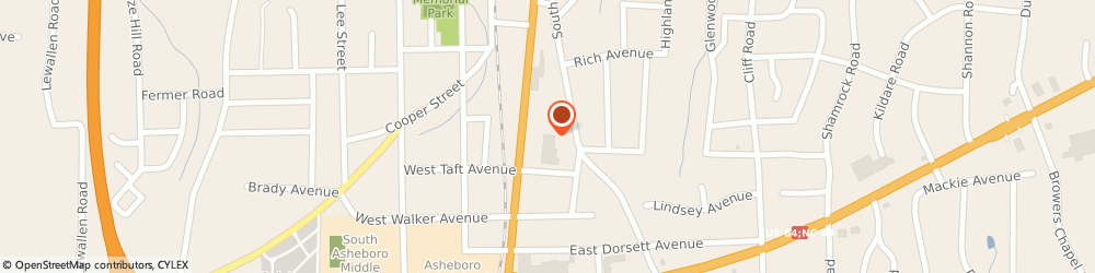 Route/map/directions to Papa John's Pizza, 27203-8870 Asheboro, 999 S. Fayetteville St