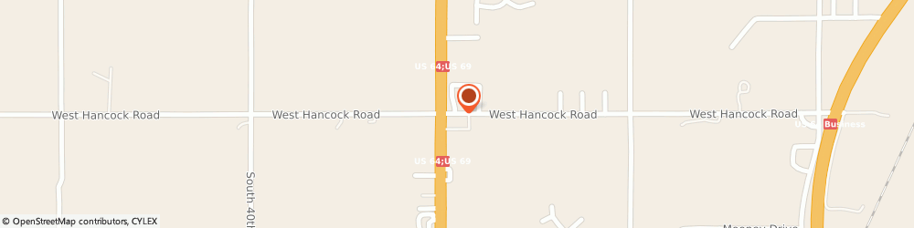 Route/map/directions to Bank of America, 74401 Muskogee, 2401 E HANCOCK ST