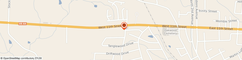 Route/map/directions to Navy Federal Credit Union ATM, 27344 Siler City, 1131 North Glenn Ave.
