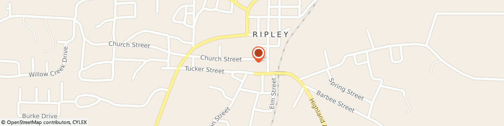 Route/map/directions to Ripley Gas & Water Dept, 38063 Ripley, 116 Church Street