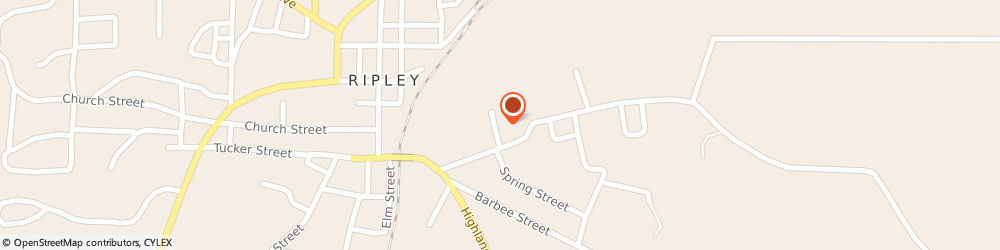 Route/map/directions to York Dealer, 38063 Ripley, 125 Pennington Street