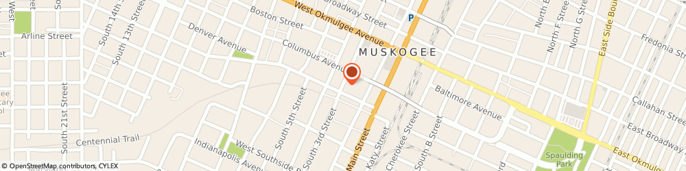 Route/map/directions to Bank of America, 74401 Muskogee, 333 S 3RD ST