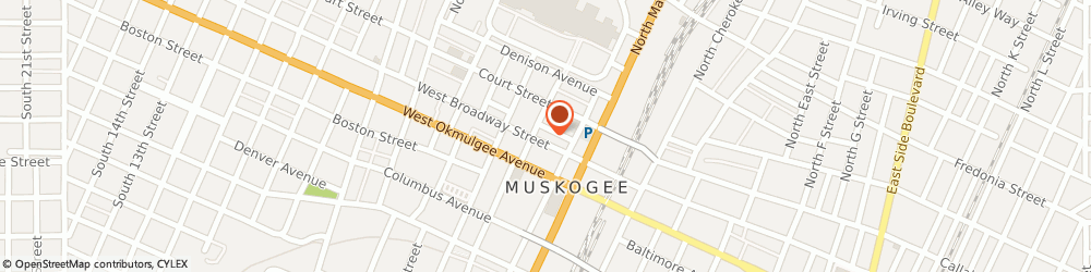 Route/map/directions to Farmers Insurance Group, 74401 Muskogee, 230 W Broadway St Ste 200