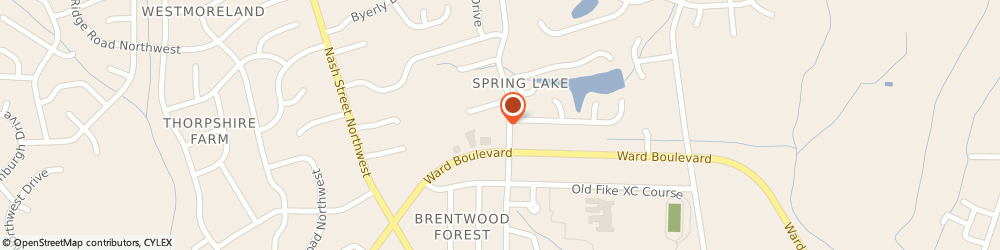 Route/map/directions to Allstate Insurance Companies, 27896 Wilson, 1805 Brentwood Dr N