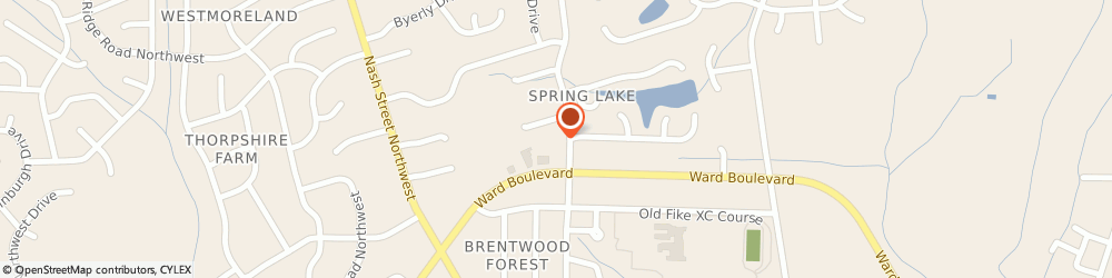 Route/map/directions to Sheryletta W. Lacewell: Allstate Insurance, 27896 Wilson, 1805 Brentwood Dr N