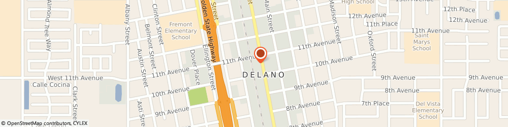 Route/map/directions to Enterprise Rent-A-Car, 93215 Delano, 722 11th Ave