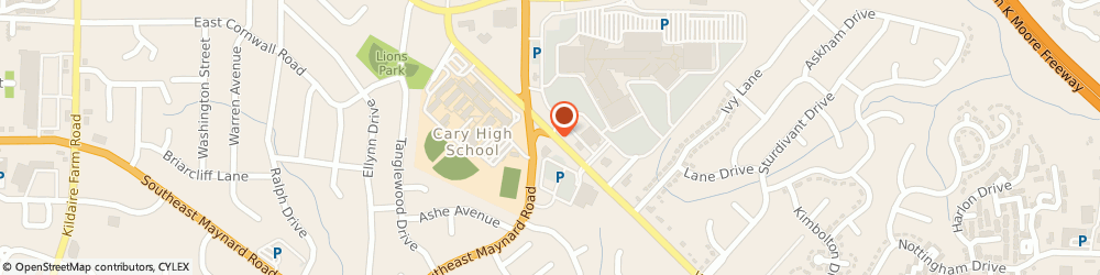 Route/map/directions to Choice Pool and SPA, 27511 Cary, 2484 WALNUT STREET