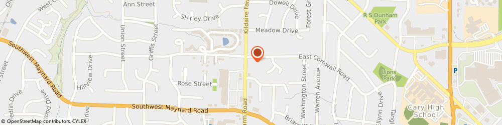Route/map/directions to Penny Saver, 27511 Cary, 901 Kildaire Farm Rd