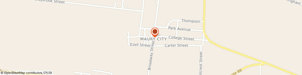 Route/map/directions to Crockett Tv and Electronic Repair, 38050 Maury City, 51 1ST STREET