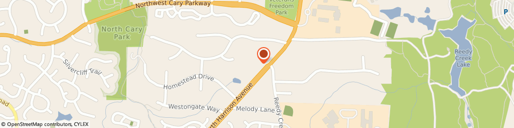 Route/map/directions to C & b Chauferred Transportation, 27511 Cary, 1399 N HARRISON AVE