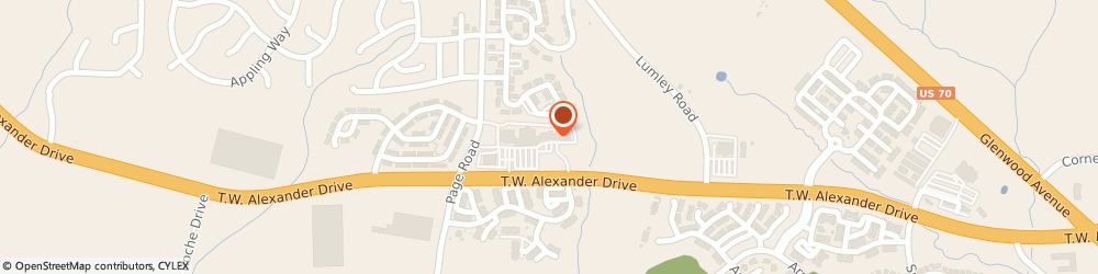 Route/map/directions to Subway, 27560 Morrisville, 2121 Tw Alexander Dr