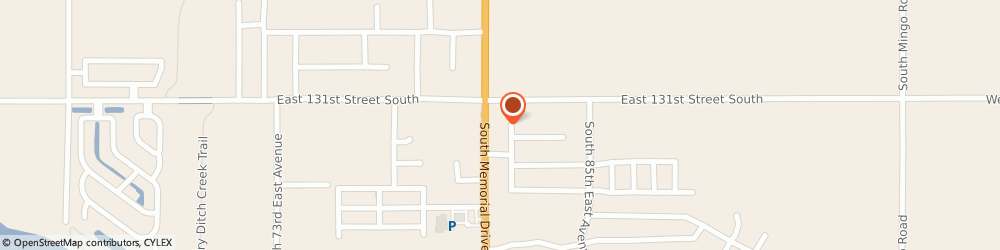 Route/map/directions to Curves For Women, 74008 Bixby, 13161 SOUTH MEMORIAL DRIVE