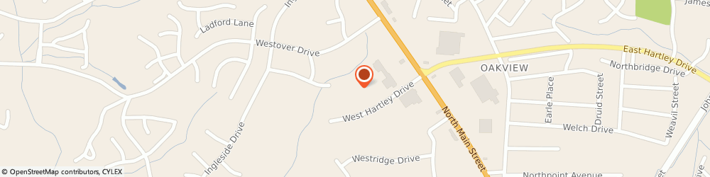 Route/map/directions to Hartley Drive Family YMCA, 27262 High Point, 150 W Hartley Dr