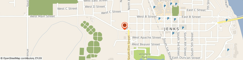 Route/map/directions to Curves For Women, 74037 Jenks, 519 WEST MAIN STREET
