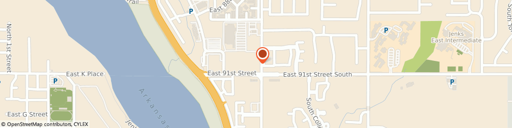 Route/map/directions to Arvest Bank, 74137 Tulsa, 2799 E 91st St