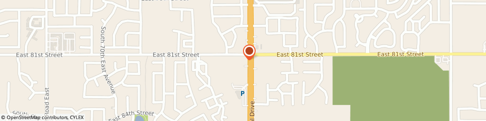 Route/map/directions to Prosperity Bank, 74133 Tulsa, 8110 South Memorial Drive