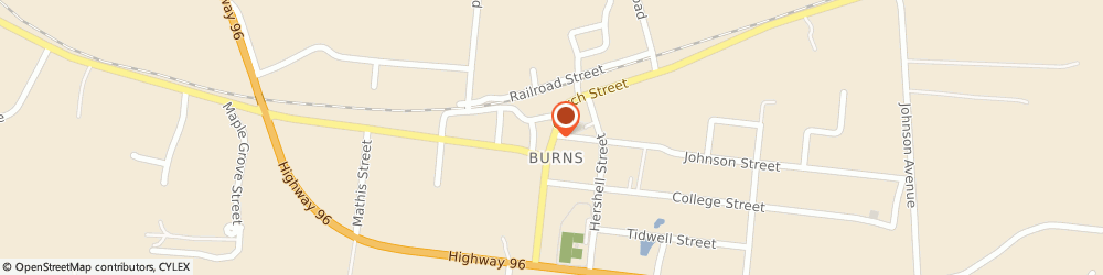 Route/map/directions to Burns United Methodist Church, 37029 Burns, 2904 CHURCH STREET